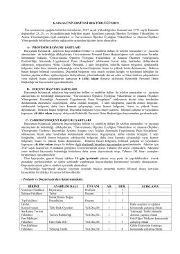 kafkas üniversitesi akademik personel alım ilanı