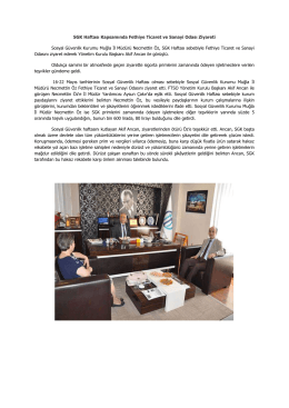 SGK Haftası Kapsamında Fethiye Ticaret ve Sanayi Odası Ziyareti