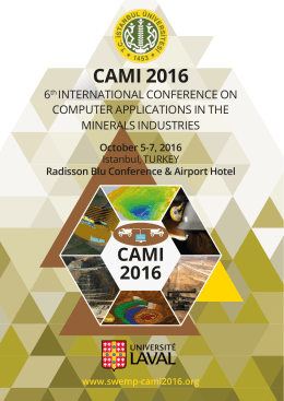 CAMI 2016 - SWEMP 2016
