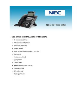 Nec DT730-32D Telefon Seti