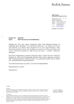 İstanbul, 12.07.2016 Konu :KDV Borçlarının Tecil