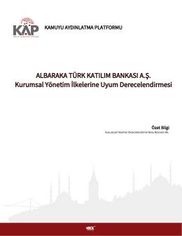 ALBARAKA TÜRK KATILIM BANKASI A.Ş. Kurumsal Yönetim