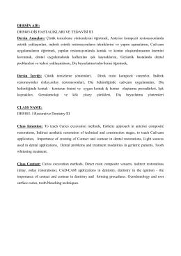 dhf403-diş hastalıkları ve tedavisi ııı