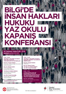 Konferans afişi için tıklayınız. - İstanbul Bilgi Üniversitesi İnsan