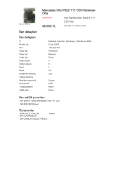 Mercedes Vito P322 111 CDI Panelvan Orta 45.000 TL İlan detayları