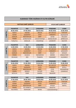 altın pdf - AlBaraka