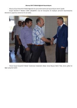Aksaray SGK İl Müdürlüğünde Bayramlaşma Aksaray Sosyal