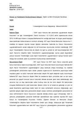 2547 sayılı Kanuna tabi personele uygulanacak disiplin