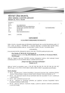 Městský úřad Bruntál, odbor výstavby a územního plánování