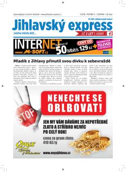 Červenec - Jihlavský express
