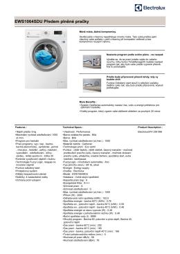 EWS1064SDU Předem plněné pračky