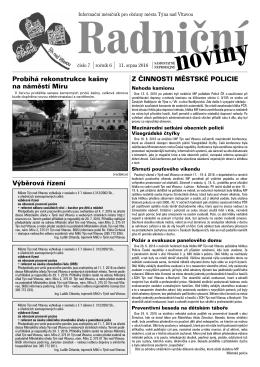 Radniční noviny - červenec 2016