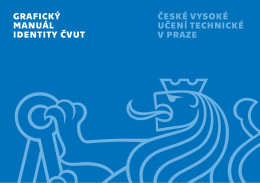 Grafický manuál identity ČVUT v Praze