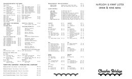 Nápojový lístek / Drinks - Charles Bridge Restaurant