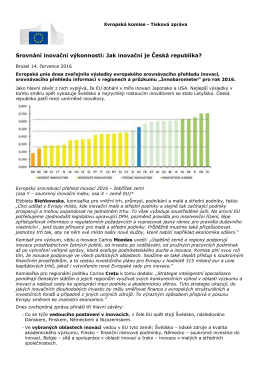 Srovnání inovační výkonnosti: Jak inovační je Česká