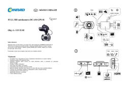 Překlad 1333202 - autokamera Gembird GPS 01