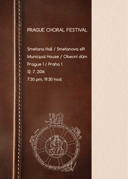 Prague Choral Festival 2016
