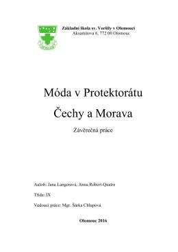 Móda v Protektorátu Čechy a Morava