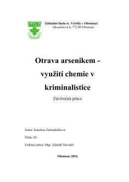 Otrava arsenikem - Základní škola sv. Voršily v Olomouci