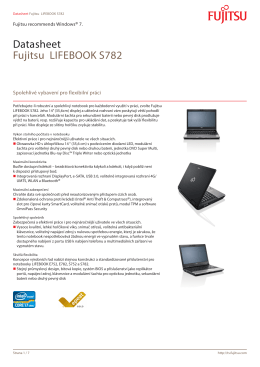 Datasheet Fujitsu LIFEBOOK S782