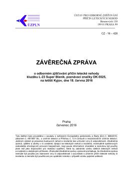 závěrečná zpráva - Ústav pro odborné zjišťování příčin leteckých