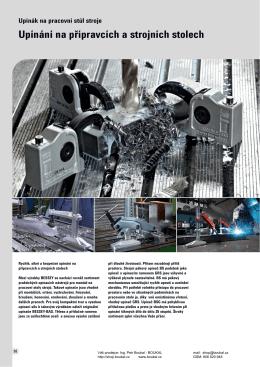 Upínání na přípravcích a strojních stolech - BOUKAL Stroje