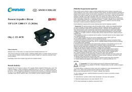 Ponorné čerpadlo s filtrem TIP LGW 12000 UV 13 (30284) Obj. č