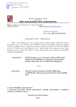 JUD , PH.D., V Brně dne 24.3.2010 Číslo jednací: 006 EX