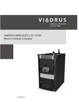 VIADRUS HERCULES U 32 15 kW Návod k obsluze a instalaci