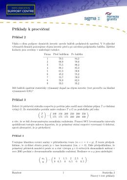 Příklady k procvičení - Math and Stats Support Centre