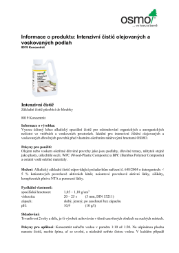 Informace o produktu: Intenzivní čistič olejovaných a