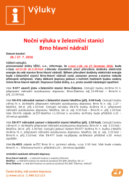 Brno hl.n.: Noční výluka