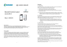 Bluetooth® bezdrátová spínací zásuvka BS
