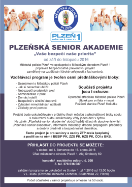 plzeňská senior akademie