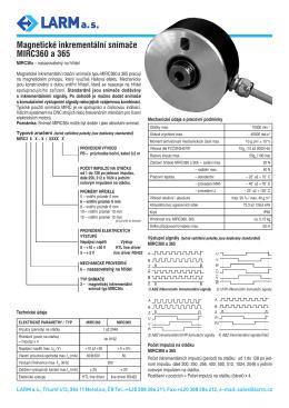 Optoelektrobické a magnetické snímače – inkrementální