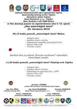 pozvánce - Severočeský letecký archiv Teplice