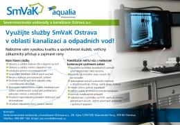 Využijte služby SmVaK Ostrava v oblasti kanalizací a odpadních vod!