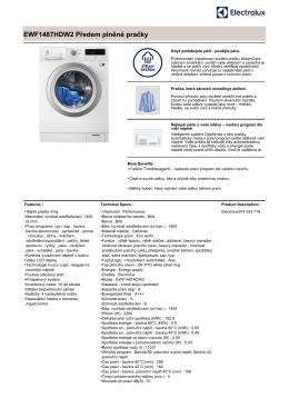 EWF1487HDW2 Předem plněné pračky