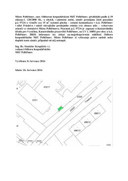 Záměr pronájmu v k.ú. Pelhřimov v ulici Friedova