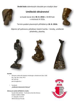 Umělecké slévárenství - FMMI - Vysoká škola báňská
