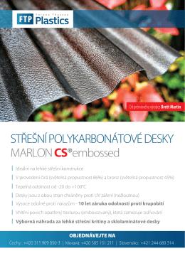 MARLON CS ® embossed - Ferona Thyssen Plastics, s.r.o.