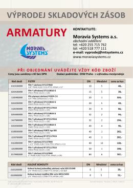 armatury - Moravia Systems