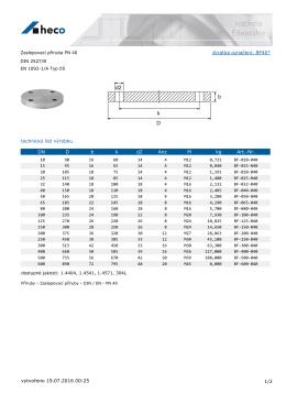 Zaslepovací příruba PN 40 DIN 2527/B