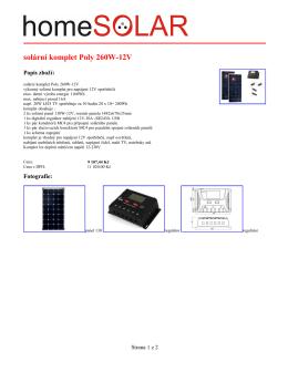 solární komplet Poly 260W-12V