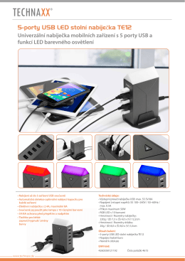 5-Port USB LED Charger TE12 CZ