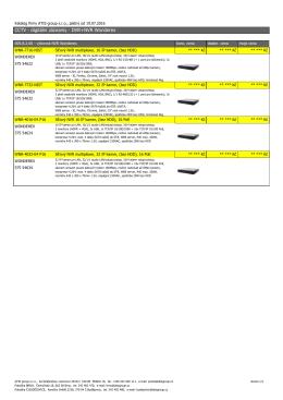 CCTV - digitální záznamy - DVR+NVR Wonderex