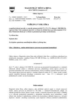 magistrát města brna veřejná vyhláška - Úřední deska