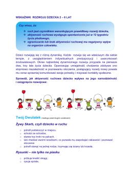 Normy rozwojowe dziecka 2