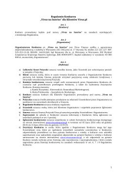 "Regulamin Konkursu ""Vivus na Sunrise"" dla Klientów Vivus.pl"