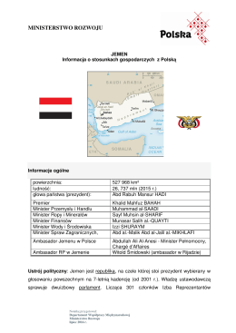 Stosunki gospodarcze z Jemenem